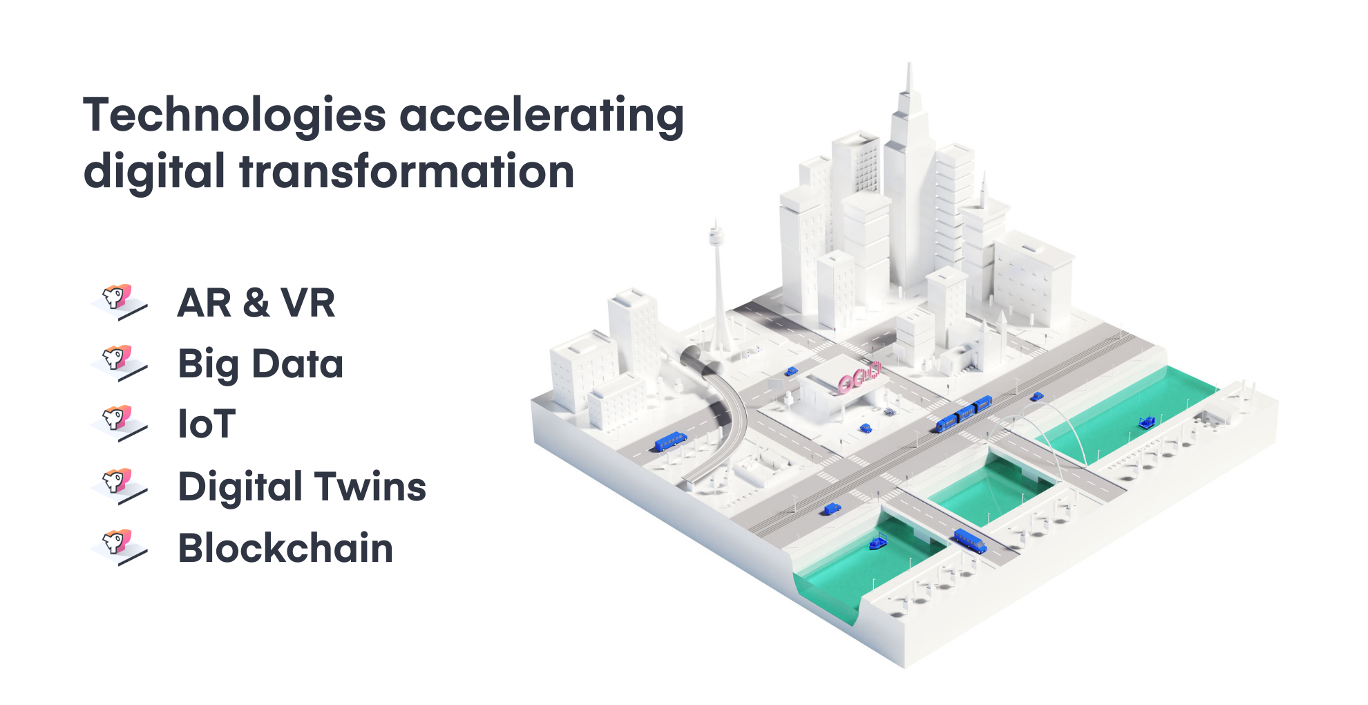 A model from Nomoko showing how emerging technologies are changing cities