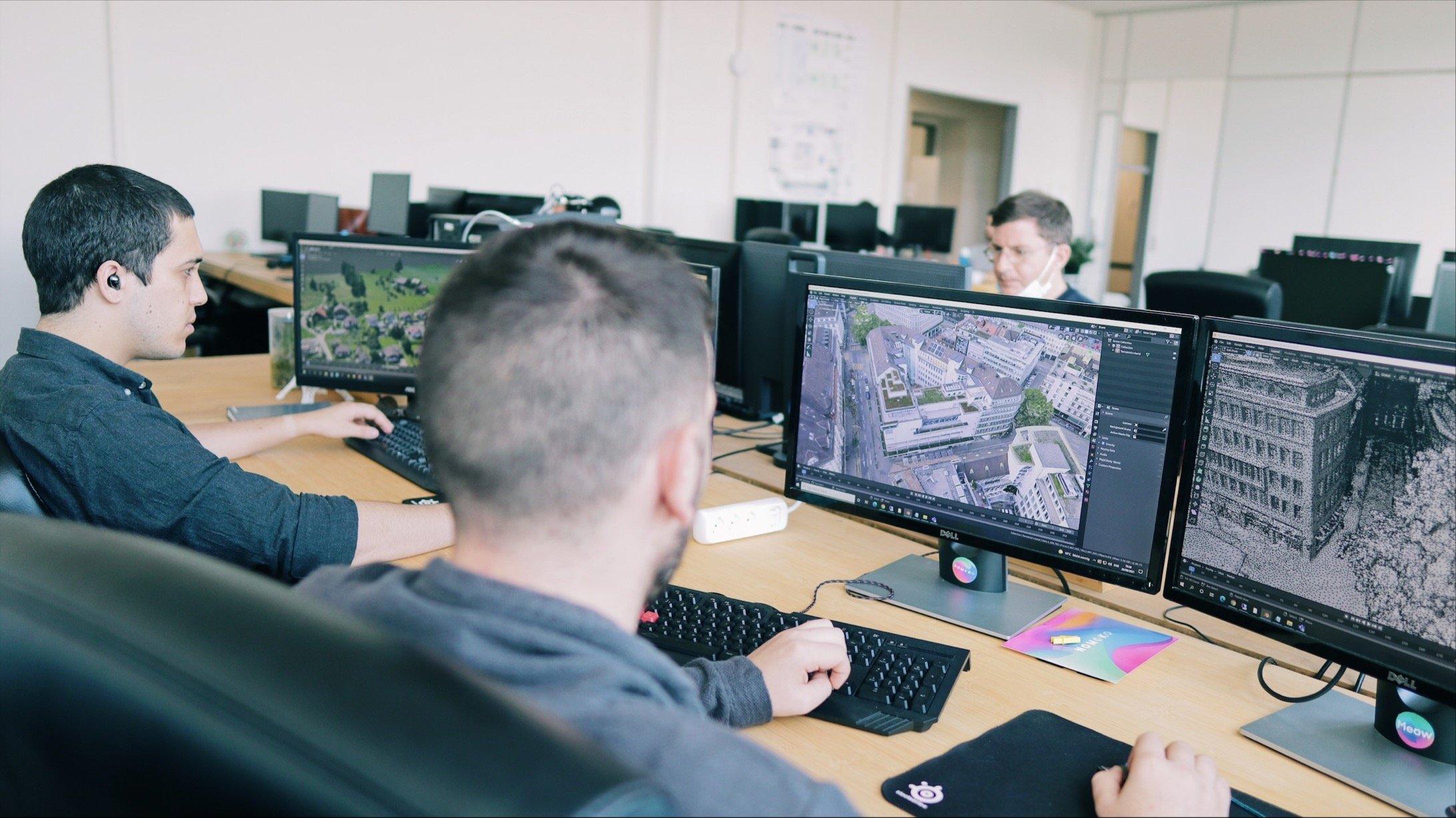 Das Team arbeitet hart daran, 2D-Bilder in 3D-Magie zu verwandeln